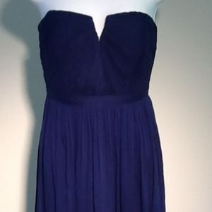 J. Crew Nadia Silk Chiffon Dress Style# 02982